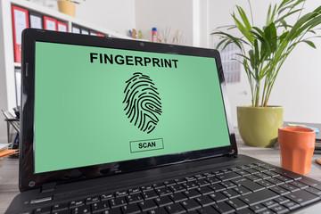 Internet security concept on a laptop