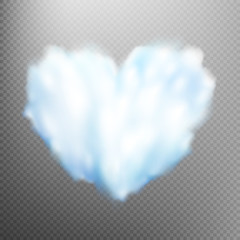 Realistic cloud heart. EPS 10
