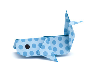 origami whale  model