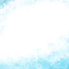 Blue frame on white abstract texture background.