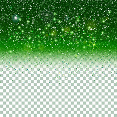 Shiny Particles on green background