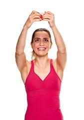 selfie of fitness girl