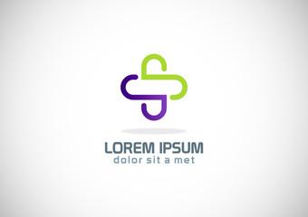 plus line medic icon logo