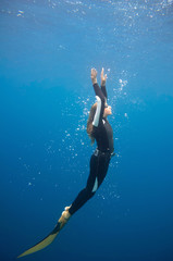 Young female free diver