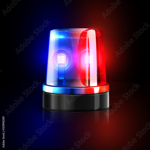 emergency flashing police siren vector illustration. Black Bedroom Furniture Sets. Home Design Ideas