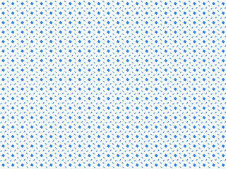 Background from geometric shapes. Blue squares and triangles on white, small pattern.