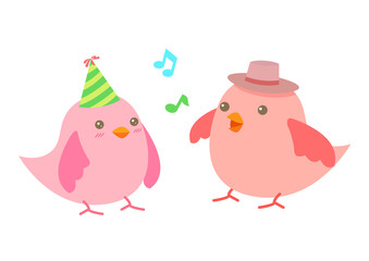 Vector Illustration : Cute cartoon little Bird