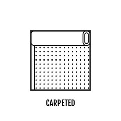 Flat icon of carpeted. Finishing materials, floor coverings. Vector illustration