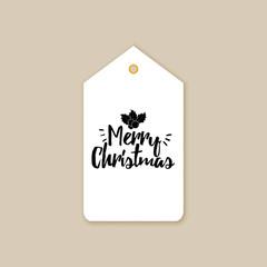 Merry Christmas label