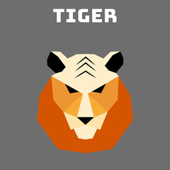 wild animals stylized in a linear style