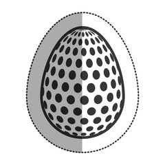 Egg icon. Happy easter spring decoration and holiday theme. Isolated design. Vector illustration