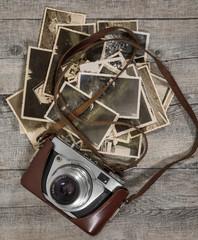 alte antike fotokamera mit bildern
