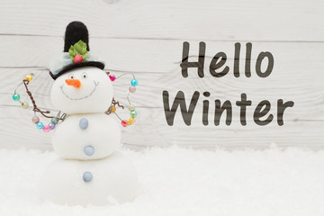 High Quality Old Fashion Winter Message