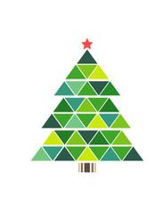 Рождество, праздничная елка. Иллюстрация