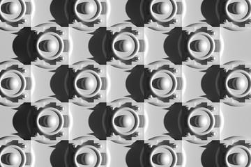 3д фон, геометрические фигуры, вид сверху