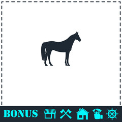 Horse icon flat