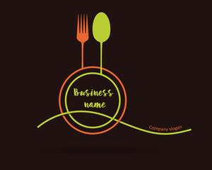 Logo restaurant. Minimalist