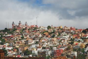 Colline d'Antananarivo couronnée du Palais Andafiavaratra, Madagascar