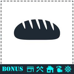 Bread icon flat