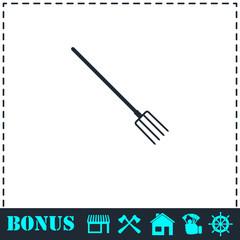 Pitchfork icon flat