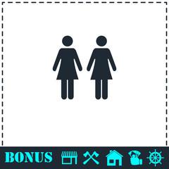 Lesbian icon flat