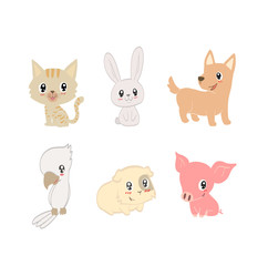 Hand drawn vector pets