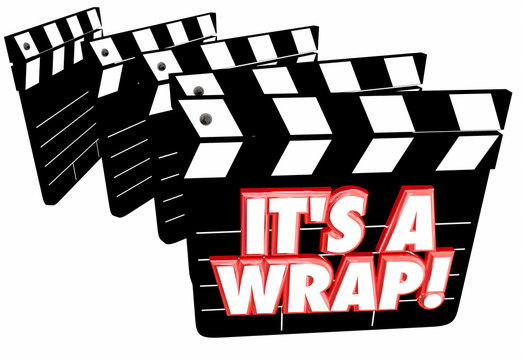 Its a Wrap Final Finished Complete Done Movie Clapper Boards 3d