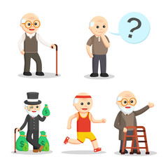 old man character set