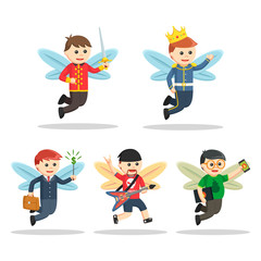 male fairy character set