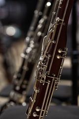 Fototapete - Detail of the bassoon closeup in dark colors