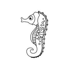 Sea horse cartoon icon vector illustration graphic design