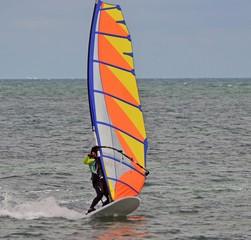 Windsurfer Off Virginia Key in southeast florida