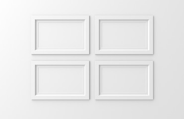 four blank frames