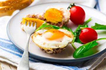 Breakfast Egg Muffins with vegetables