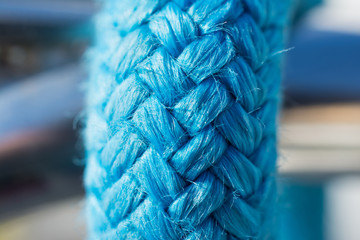 Blue rope close up