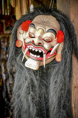 The mask of god for dancing or art performance culture of Bali