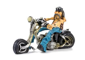 Toy bike on white background