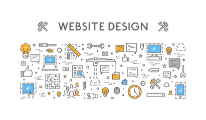 Vector line concept for website design