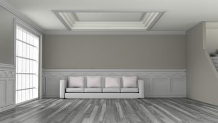 interior room 3d render