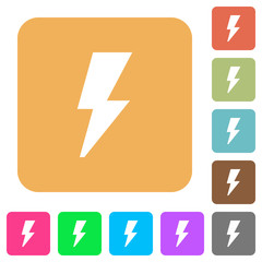 Flash rounded square flat icons