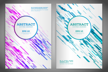 Technology line brochure book cover template layout. Abstract geometric cover flyer magazine. Prospectus design vector template geometric lines and lights abstract backgrounds. Vector illustration eps