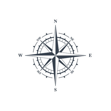 Compass sign, wind rose