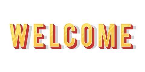 Welcome vector inscription