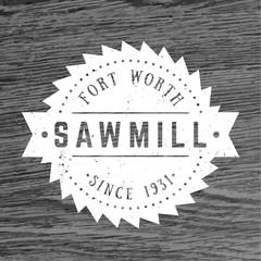 Sawmill logo, vintage emblem