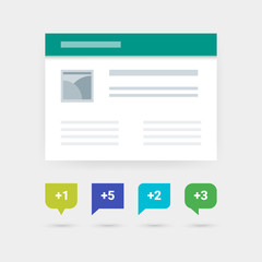 Counter Web or Application UI Symbols. Material blog