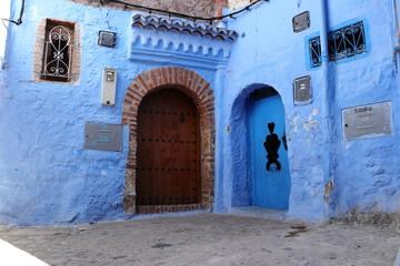 Foto op Canvas Marokko 青い街 シャウエン