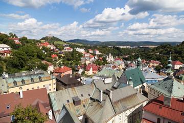 Banska Stiavnica, Slovakia . Panorama of the city