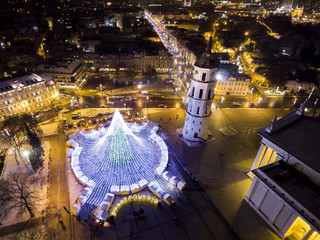 City of Vilnius during the Christmas time.
