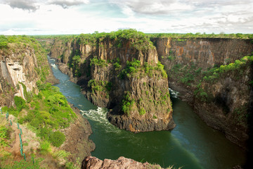 Victoria Falls in Zimbabwe on the Zambezi River