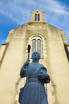 Saint-Laurent-sur-Sevre, France - September 10, 2019: Monument S